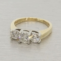 Stunning 1.50ctw Diamond Platinum Gold Engagement Ring