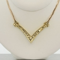 Ladies Yellow Gold Diamond Necklace