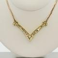 Ladies Yellow Gold Diamond Necklace