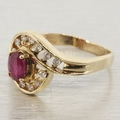 14K Yellow Gold Diamond and Ruby Fashion Ring