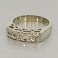 Vintage 14K White Gold Diamond Ring Band