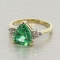 10K Yellow Gold and Green Quartz Vintage Ring