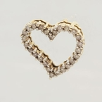 Lovely Ladies 14K Yellow Gold Diamond 0.52CTW Heart Pendant Jewelry