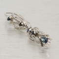 Estate 14K White Gold Diamond & Sapphire Jewelry Set