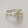 Estate 14K White Gold Diamond Cocktail Ring Set