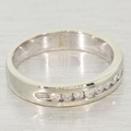 Certified 18K White Gold Diamond Band