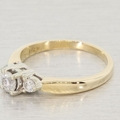 14K Yellow and White Gold Three Stone Diamond Engagement Ring