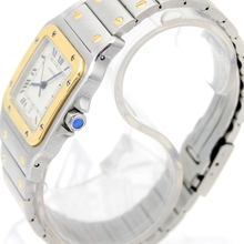 18K Gold and Steel Santos De Cartier 187901 Watch