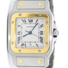 18K Gold and Steel Santos De Cartier 187901 Watch