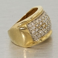 Estate Vintage Fine 14K Yellow Gold Diamond Ladies Ring