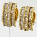 Estate Vintage 14K Yellow Gold 2.42ct Diamond Earrings