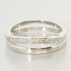 Wonderful Cubic Zirconia and 14K White Gold Band