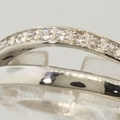 Modern Ladies 14K White Gold Cubic Zirconia Stars Heart Ring Band