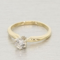 Magnificent Diamond Solitaire 14k Gold Engagement Ring