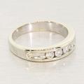 Estate 14K White Gold Diamond Anniversary Band Ring