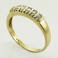 Spectacular Diamond 10K Yellow Gold Band