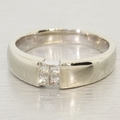 Superb Princess Cut Diamond Band in 14K White Gold