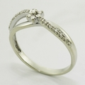 Sparkling Vintage Prong Set Diamond Cluster 14K White Gold Fashion Ring