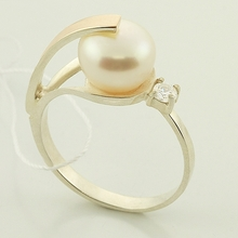 Lovely Russian Collection Pearl Silver Gold Jewelry Set