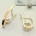 Magnificent Russian Collection Pearl Silver Gold Jewelry Set