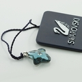 Lovely Authentic Swarovski Flower Charm Pendant