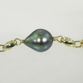 Wonderful Peacock Baroque Pearl Bracelet 14K Yellow Gold