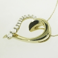 Exquisite10K Gold Diamond Heart Shape Pendant Necklace