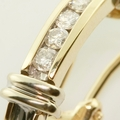 Wonderful 14K Yellow White Gold Diamond Earrings