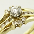 Marvelous 14K Yellow Gold Vintage Diamond Wedding Set