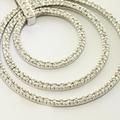 Marvelous 14K White Gold Diamond Circle Pendant