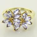 Scintillating Purple Sapphire Diamond 14K Gold Cocktail Ring
