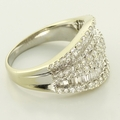Absolutely Gorgeous 18K White Gold Diamond Studded  Fashion Ring