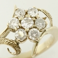 Marvelous 14K Rose Gold Diamond Flower Fashion Ring