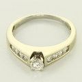 Marvelous 14K White Gold Diamond Engagement Ring