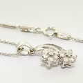 Exquisite 14K White Gold Flower Diamond Jewelry Set