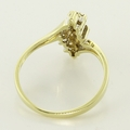 Brilliant 14K Yellow Gold Diamond Cluster Fashion Ring