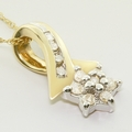 Charming Flower Diamond 10K Gold Pendant & Chain Necklace