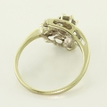 Lovely 14K White Gold Vintage Estate Diamond Ring