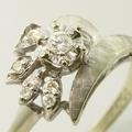 Lovely 14K White Gold Vintage Estate Diamond Ring