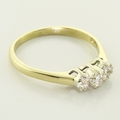 Wonderful 14K Gold Cluster Diamond Ring