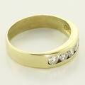 Wonderful Diamond Wedding Anniversary Band 14K Yellow Gold