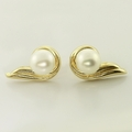 Beautiful Matching Pearl Diamond Jewelry Set 14K Gold
