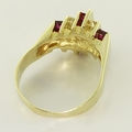 Marvelous Ruby 14K Yellow Gold Diamond Fashion Ring
