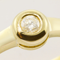 Stunning Round Brilliant Diamond Solitaire Ring 14K Yellow Gold