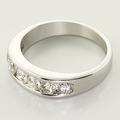 Ladies 14K White Gold Diamond Channel Set Ring