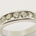 Ladies 14K White Gold Diamond Channel Set Ring