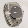 Striking Mens Movado Corporate Exclusive Quartz Stainless Steel Watch 0605973