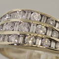 Fabulous Diamond Channel Set 14K White Gold Fashion Band