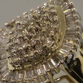 Magnificent Prong Set Diamond Cluster Ballerina 10K Gold Vintage Fashion Ring