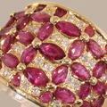 Fantastic Diamond Ruby 18K Yellow Gold Fashion Band